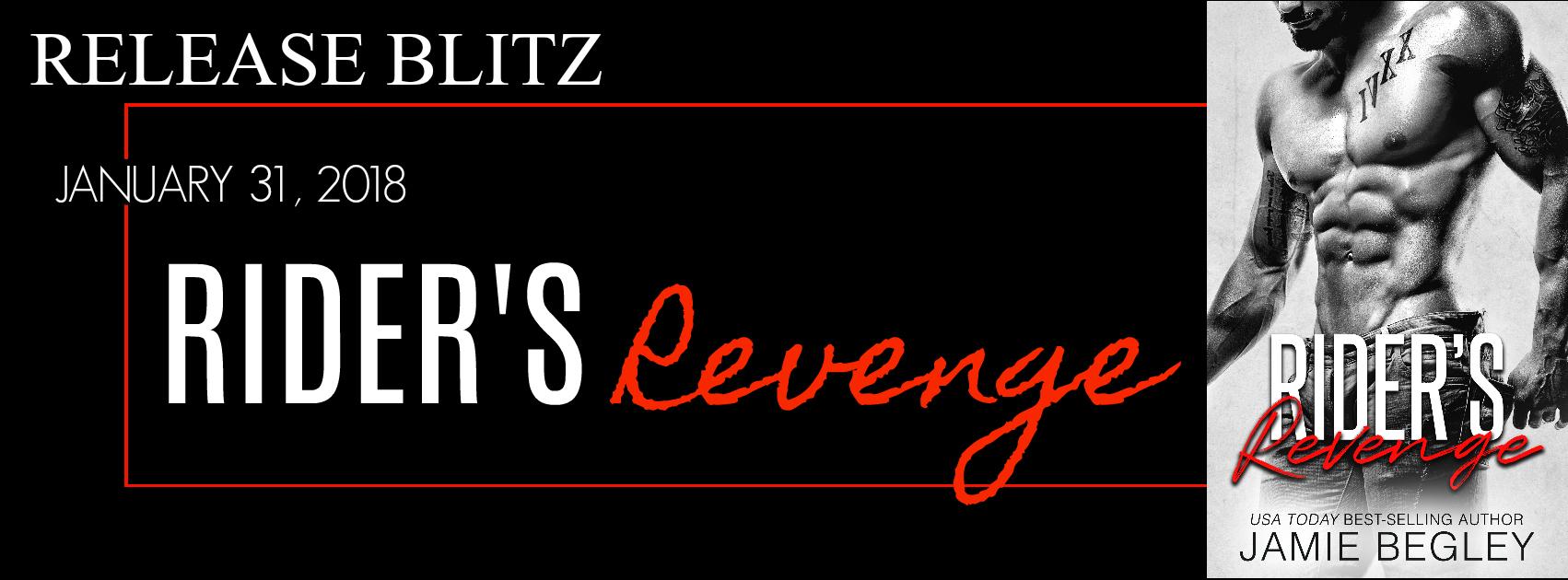 Release Blitz: Rider's Revenge by Jamie Begley